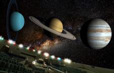投映イメージ(西南)惑星と銀河(大)